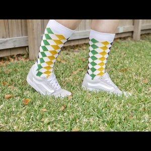 Mardi Gras Harlequin Socks Adult  Knee Regular/OS